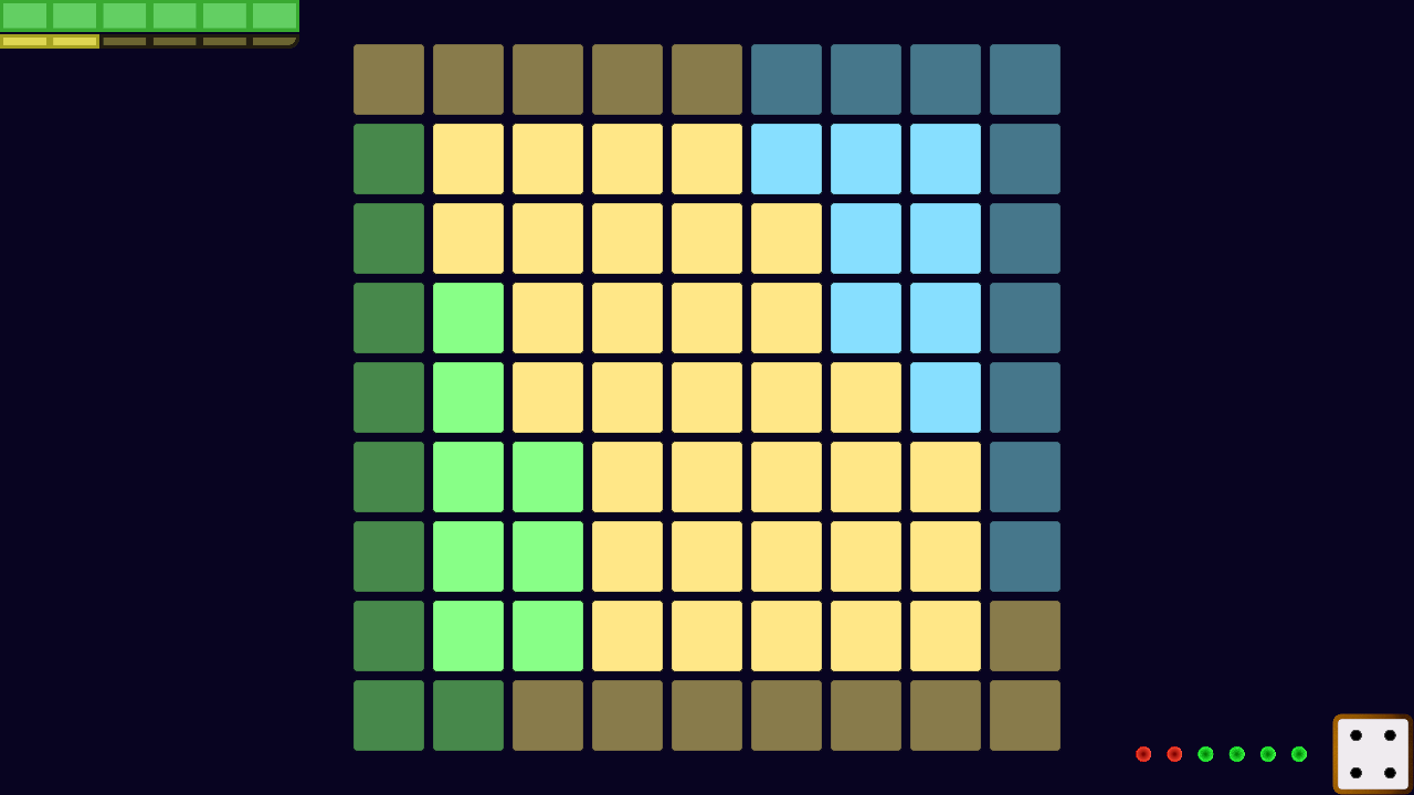 This shows the current iteration for the Project 2 visual design, using pastel colours for the tiles and a navy blue for the background.